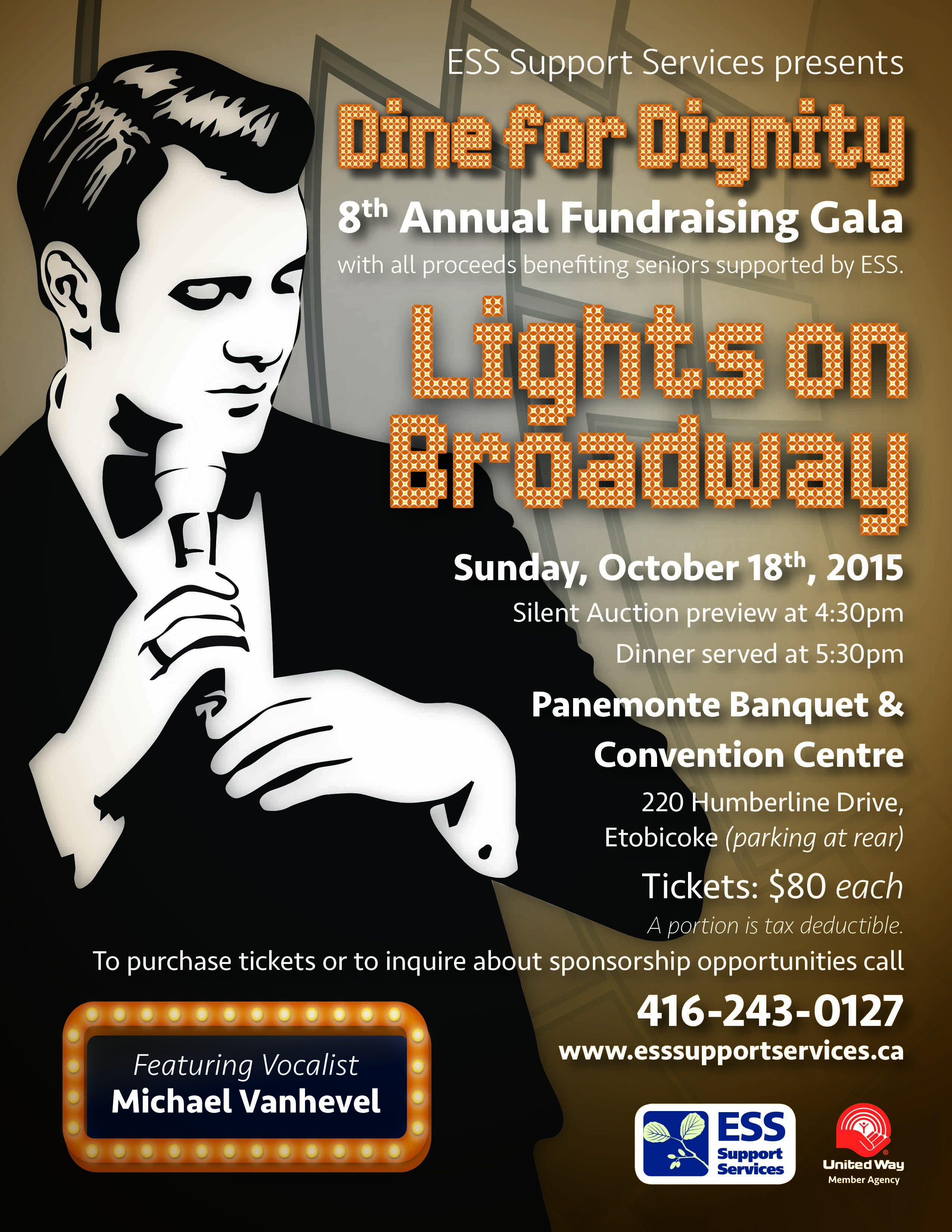 Lights on Broadway Dine for Dignity Event Flyer