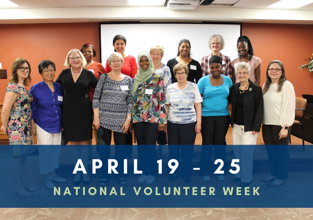 Celebrating Volunteers:  National Volunteer Week