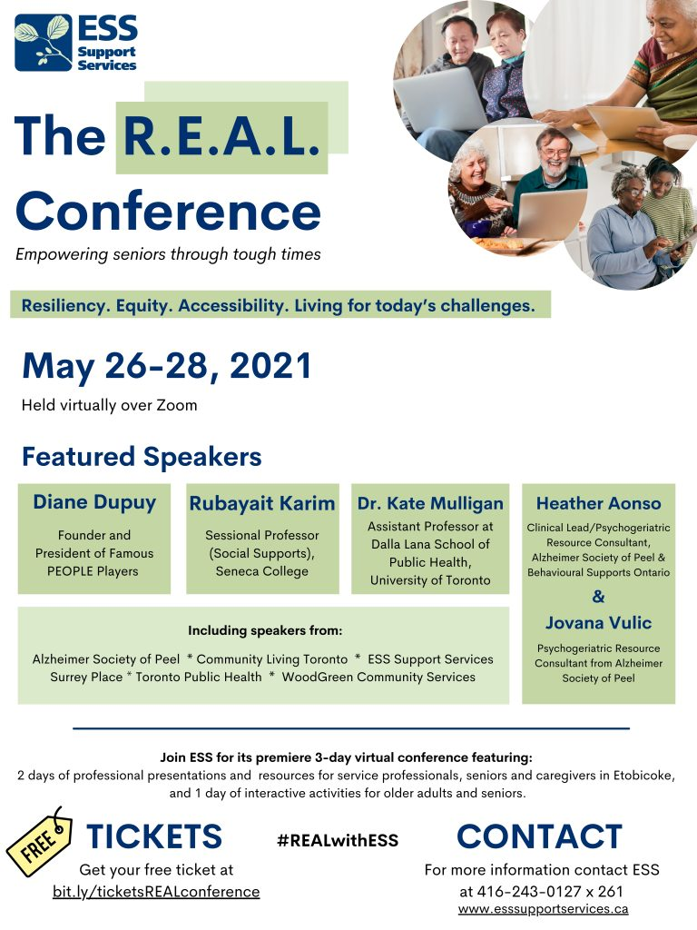 image of the real conference event flyer