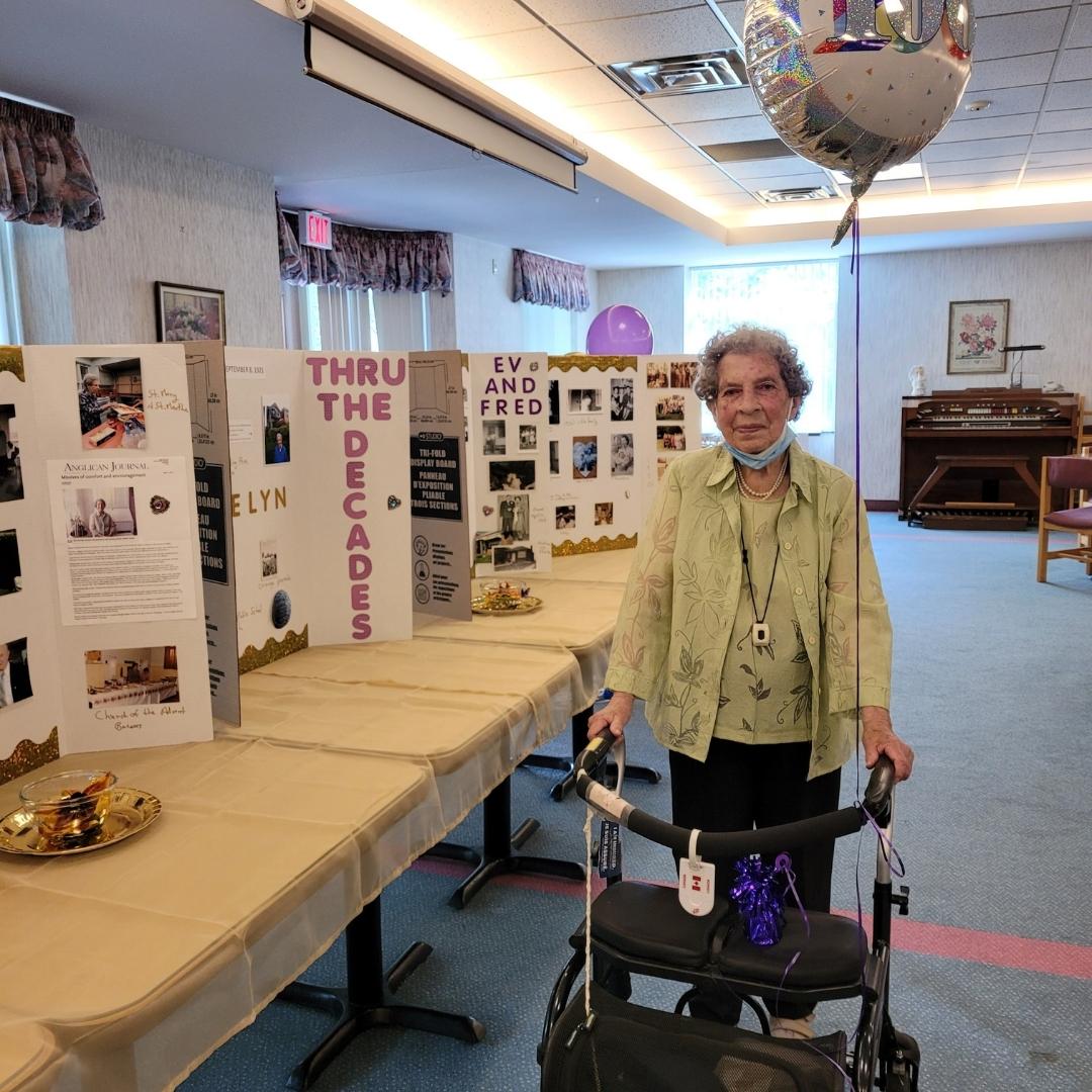 Happy 100th Birthday Evelyn!